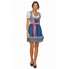 Blue Denim Dirndl Oktoberfest Beer Maid Costume