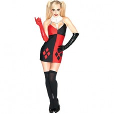 Secret Wishes Super Villain Harley Quinn Costume